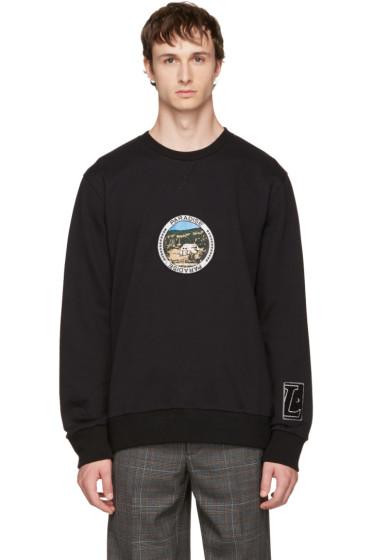 Lanvin - Black 'Paradise' Patch Sweatshirt