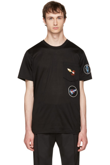 Lanvin - Black Patchwork T-Shirt
