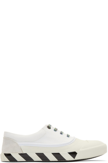 Lanvin - White Canvas Oxford Sneakers