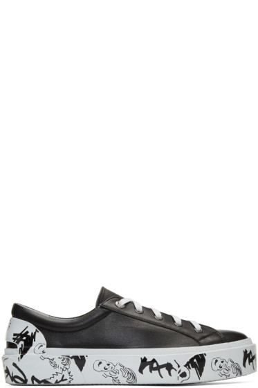 Lanvin - Black Leather Derby Sneakers