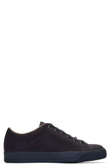 Lanvin - Navy Nubuck Sneakers