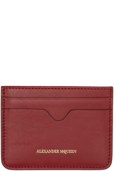 Alexander McQueen - Red Leather Card Holder