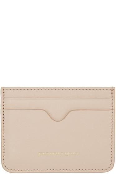 Alexander McQueen - Pink Leather Card Holder