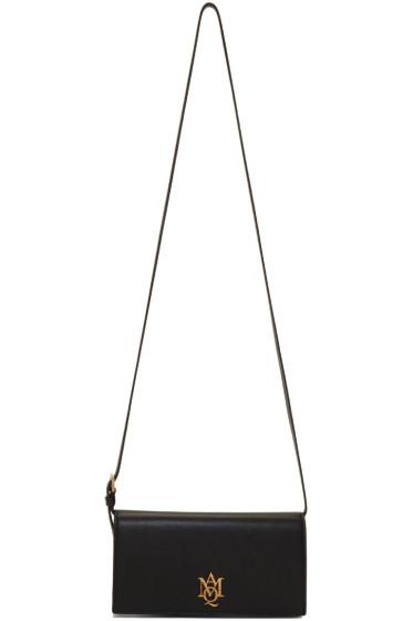 Alexander McQueen - Black Insignia Pouch Bag