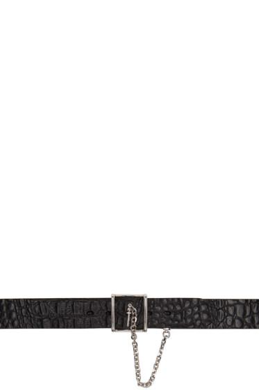 Alexander McQueen - Black Chain & Buckle Belt
