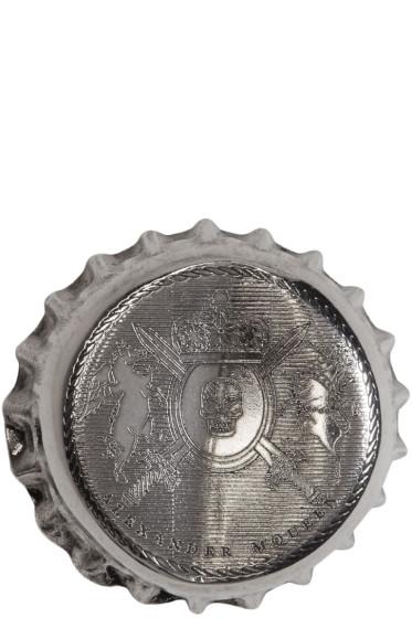 Alexander McQueen - Silver Cap Brooch