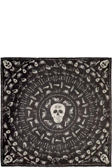 Alexander McQueen - Black Bones Scarf