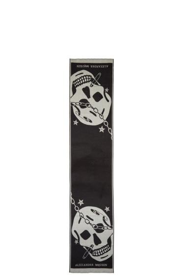 Alexander McQueen - Black Oversized Punk Skull Scarf