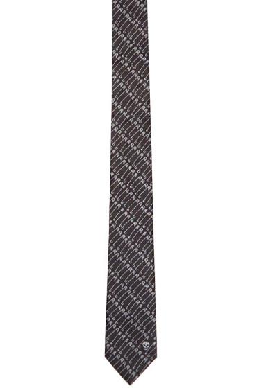 Alexander McQueen - Black Punk Pin Tie