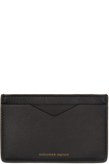 Alexander McQueen - Black Leather Card Holder