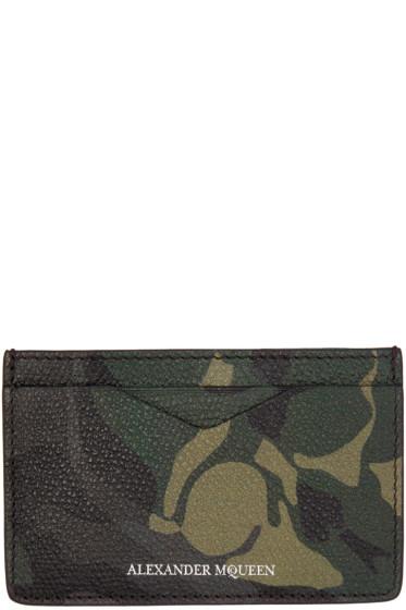 Alexander McQueen - Green Camo Leather Card Holder