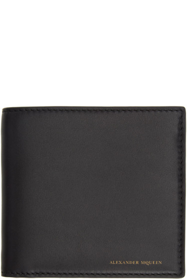 Alexander McQueen - Black Leather Bifold Wallet