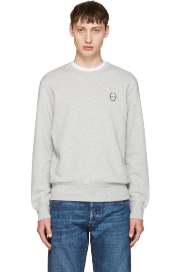 Alexander McQueen - Grey Bullion Skull Patch Sweatshirt