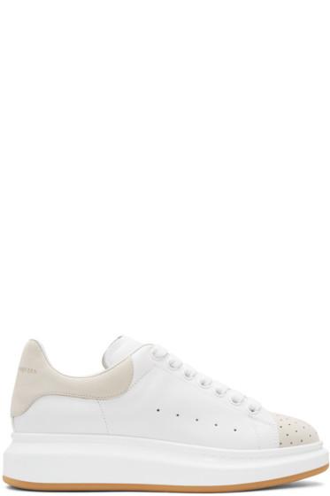 Alexander McQueen - White & Beige Oversized Sneakers