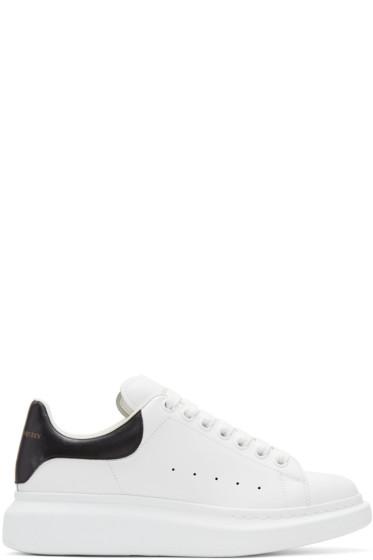 Alexander McQueen - White & Black Oversized Sneakers