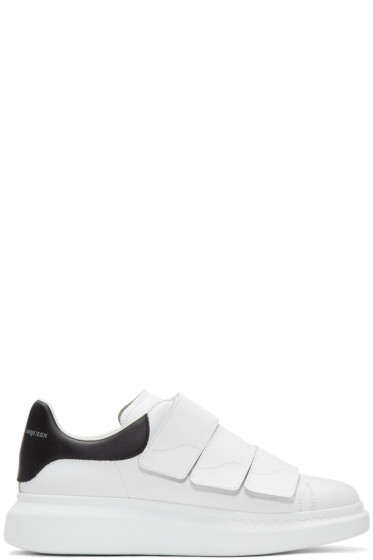Alexander McQueen - White & Black Straps Oversized Sneakers