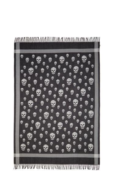 Alexander McQueen - Black & Ivory Skull Blanket