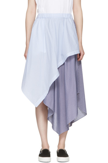 Opening Ceremony - Blue Striped Cody Skirt
