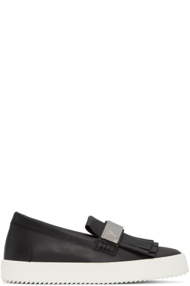 Giuseppe Zanotti - Black Fringe Loafer Sneakers