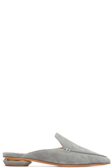 Nicholas Kirkwood - Grey Suede Beya Mules