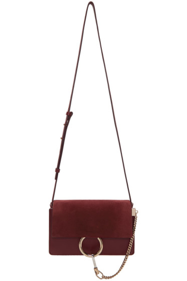 Chloé - Burgundy Small Faye Bag
