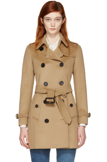Burberry - Camel Kensington Trench Coat