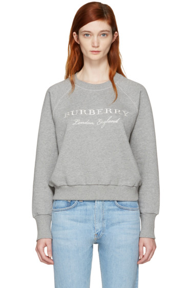 Burberry - Grey Torto Logo Sweatshirt