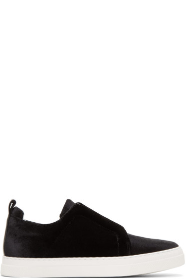 Pierre Hardy - Black Velvet Slider Sneakers