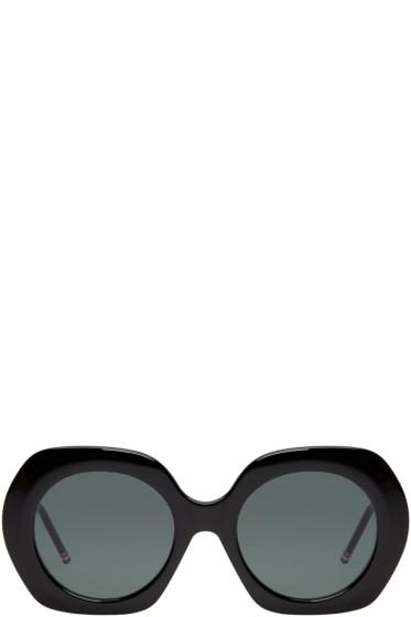 Thom Browne - Black Oversized Sunglasses
