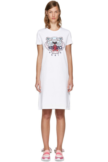 Kenzo - White Limited Edition Tiger T-Shirt Dress