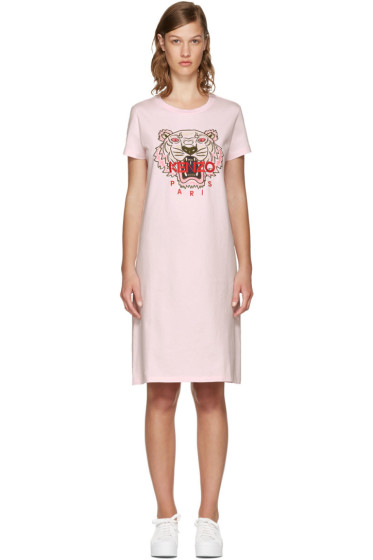 Kenzo - Pink Limited Edition Tiger T-Shirt Dress