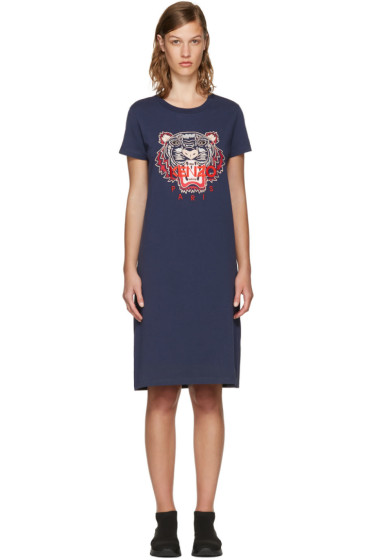 Kenzo - Navy Limited Edition Tiger T-Shirt Dress