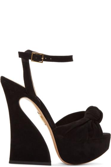 Charlotte Olympia - Black Platform Vreeland Sandals