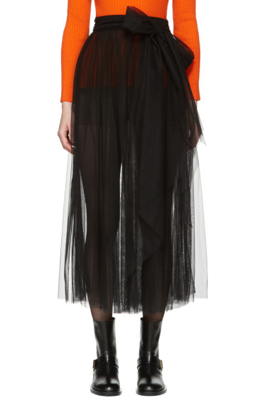 MSGM - Black Belted Tulle Skirt