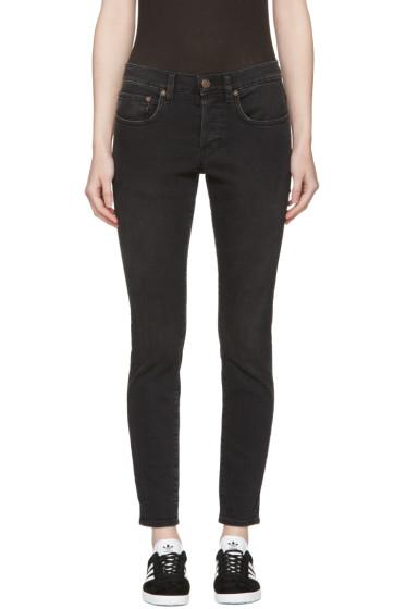6397 - Black Washed Boy Jeans