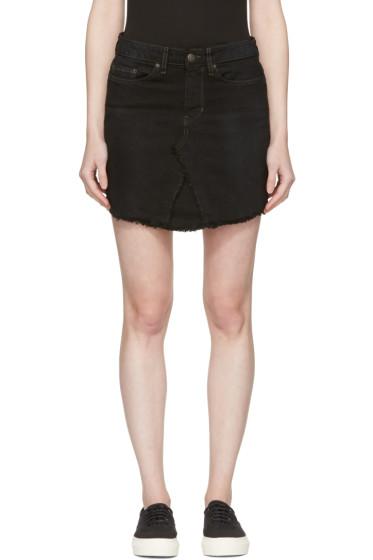 6397 - Black Denim Miniskirt