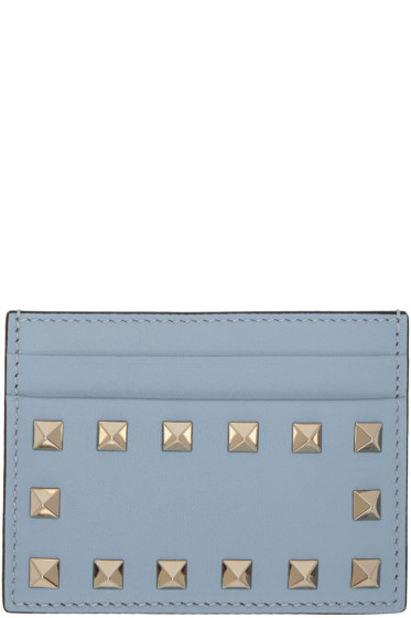 Valentino - Blue Rockstud Card Holder