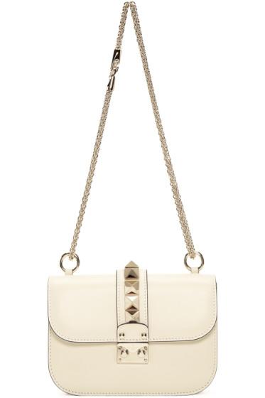 Valentino - Ivory Small Rockstud Lock Bag