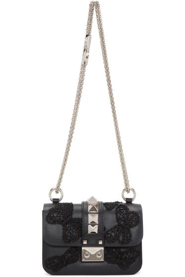 Valentino - Black Mini Butterfly Rockstud Lock Bag