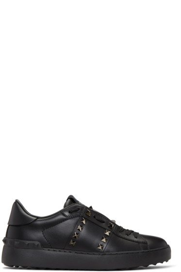 Valentino - Black 'Rockstud Untitled' 11 Open Sneakers