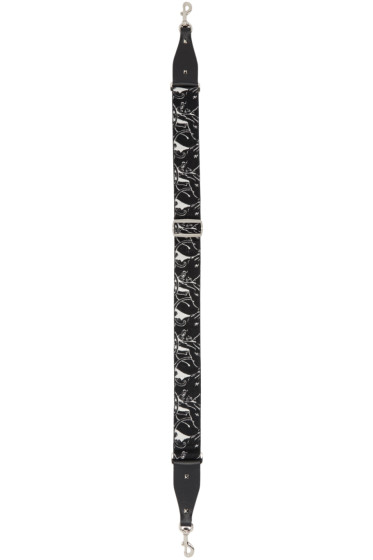 Valentino - Black & Ivory Panther Guitar Shoulder Strap