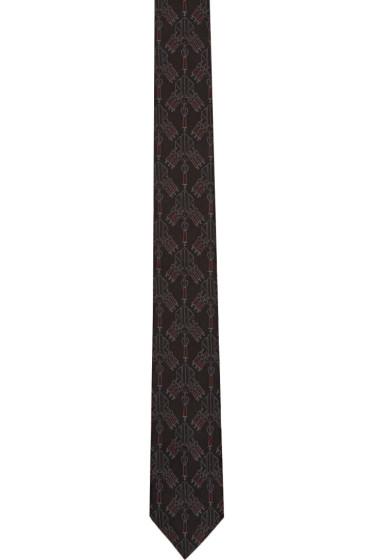 Valentino - Black All-Over Love Blade Tie