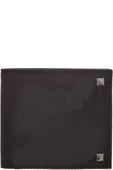 Valentino - Black Camo Rockstud Wallet