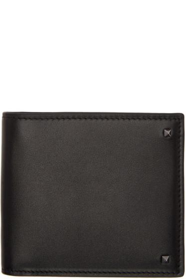 Valentino - Black Mini Rockstud Wallet
