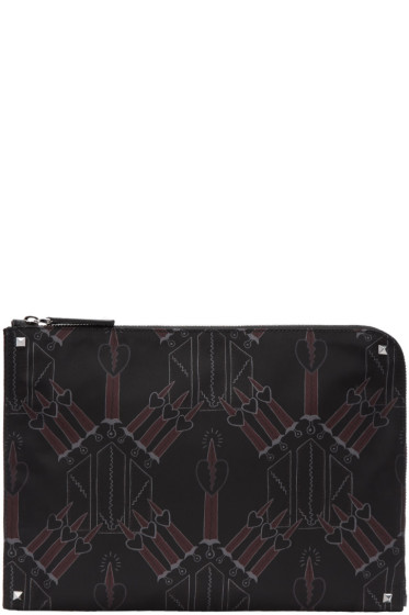 Valentino - Black Love Blade Document Holder