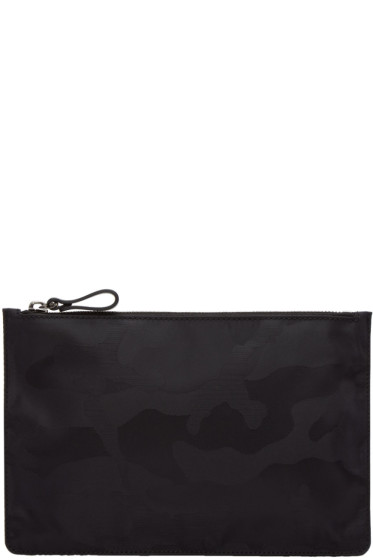 Valentino - Black Medium Nylon Camo Pouch