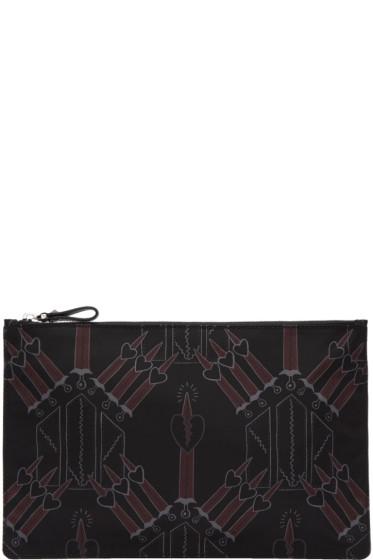 Valentino - Black Nylon Love Blade Pouch