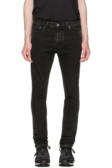 Valentino - Black Marble Wash Skinny Jeans