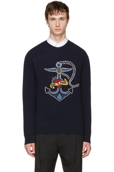 Valentino - Navy 'Joe Mary' Hook Sweater