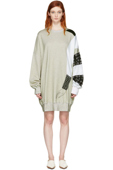 J.W. Anderson - SSENSE Exclusive Grey Kelly Beeman Edition Oversized Graphic Sweatshirt